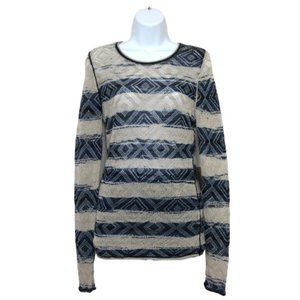 NWT RACHEL RACHEL ROY Blue Cream Sweater D16